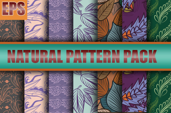 Nature Pattern Design for Pack Graphic Patterns By ahmaddesign99