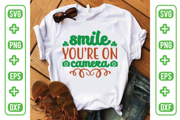 Smile You're on Camera Graphic Crafts By Printable Store