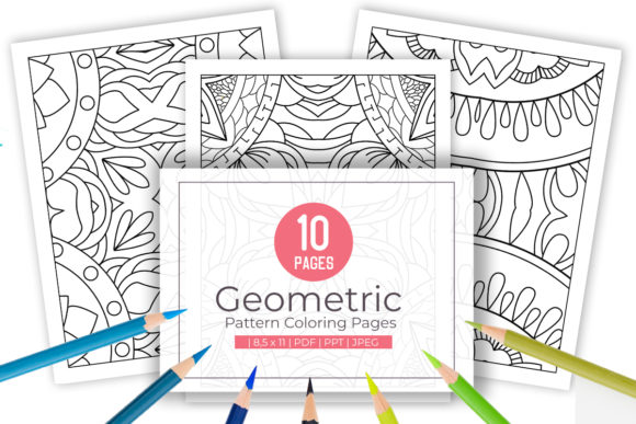 Print on Demand: 10 Abstract Pattern Pages Good for Adult Graphic Coloring Pages & Books Adults By doridodesign