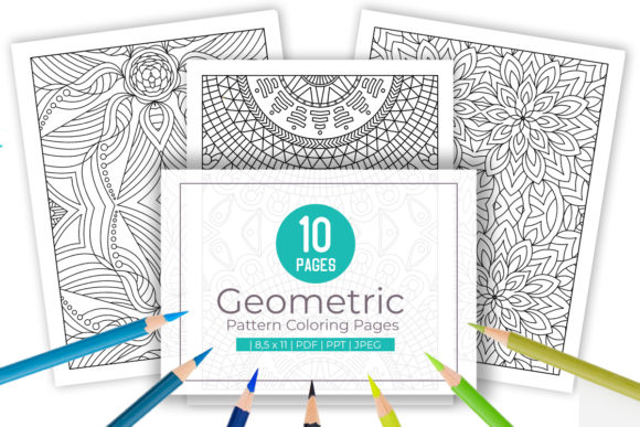 Print on Demand: 10 Wonderful Pattern Coloring Pages Graphic Coloring Pages & Books Adults By doridodesign