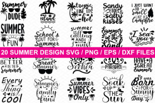 Print on Demand: 20 Summer Designs Graphic Crafts By BDB_Graphics