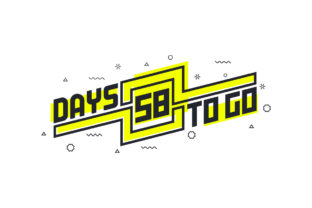 Print on Demand: 58 Days to Go Countdown Sign for Sale Graphic Illustrations By Netart