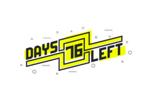 Print on Demand: 76 Days Left Countdown Sign for Sale Graphic Illustrations By Netart