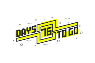 Print on Demand: 76 Days to Go Countdown Sign for Sale Graphic Illustrations By Netart