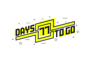 Print on Demand: 77 Days to Go Countdown Sign for Sale Graphic Illustrations By Netart