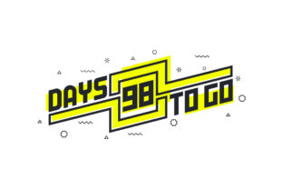 Print on Demand: 98 Days to Go Countdown Sign for Sale Graphic Illustrations By Netart