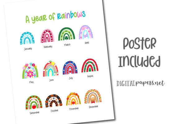 A Year of Rainbows Graphic Item