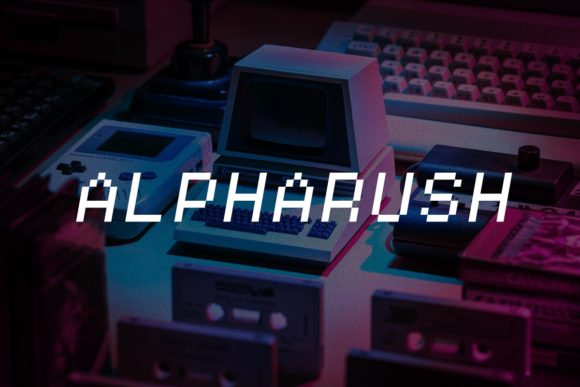 Print on Demand: Alpharush Display Font By inspirationfeed