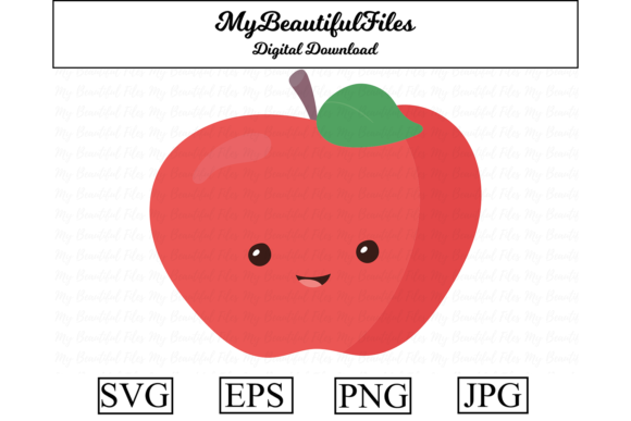 Print on Demand: Apple Fruit Clipart Design Graphic Illustrations By MyBeautifulFiles