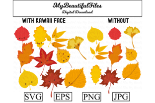 Print on Demand: Autumn Leaves Clipart Design Graphic Illustrations By MyBeautifulFiles