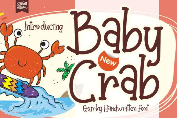 Print on Demand: Baby Crab Script & Handwritten Font By letterenastudios