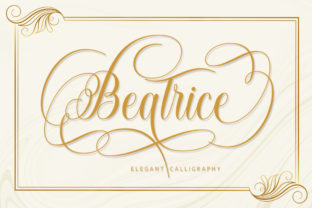 Print on Demand: Beatrice Script & Handwritten Font By Black Studio