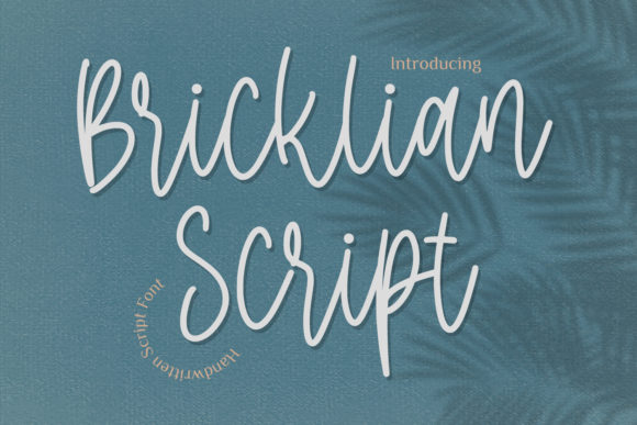 Print on Demand: Bricklian Script Script & Handwritten Font By Typefar