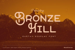 Print on Demand: Bronze Hill Display Font By black.fontlab