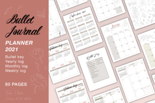 Print on Demand: Bullet Journal Planner 2021 KDP Interior Graphic KDP Interiors By Twin Flame Journey into the unknown