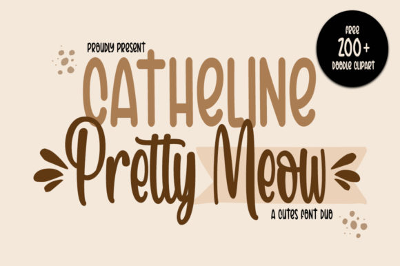 Print on Demand: Catheline Pretty Meow Script & Handwritten Font By Fillo Graphic