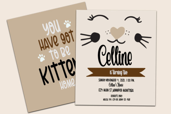 Catheline Pretty Meow Font Download