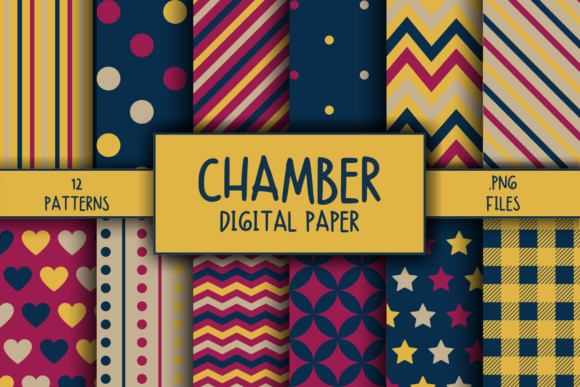 Print on Demand: Chamber Pattern Digital Paper Graphic Patterns By atlasart