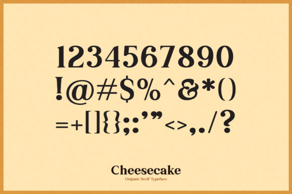 Cheesecake Font Preview