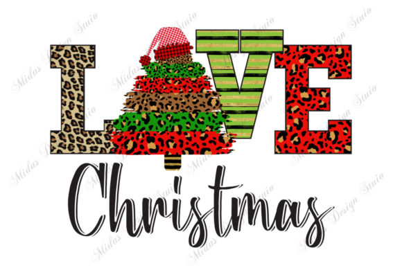 Cheetah Christmas Trees Graphic Crafts By MidasStudio