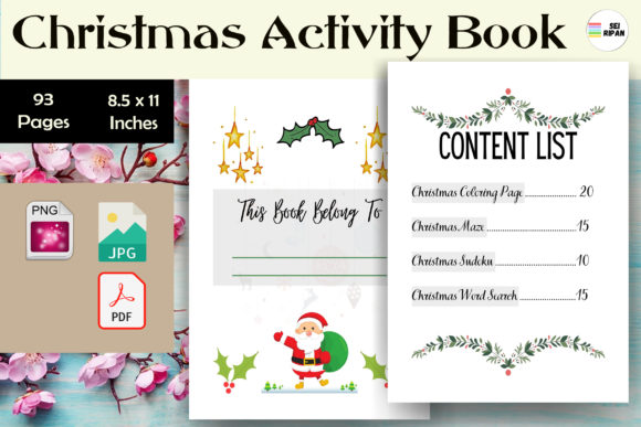 Print on Demand: Christmas Activity Book 3 - KDP Graphic KDP Interiors By Sei Ripan