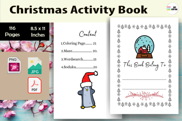 Print on Demand: Christmas Activity Book 4 - KDP Graphic KDP Interiors By Sei Ripan