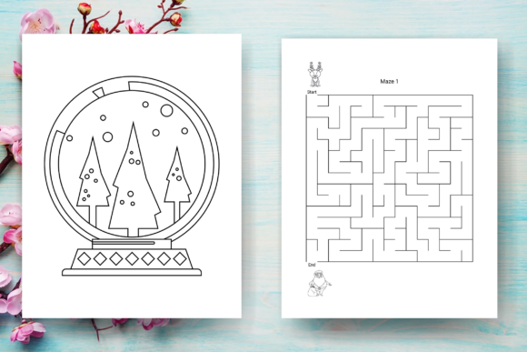 Christmas Activity Book 4 - KDP Graphic Download