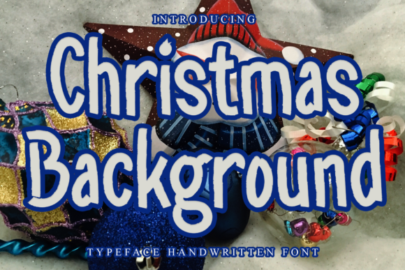 Print on Demand: Christmas Background Display Font By giatstudios