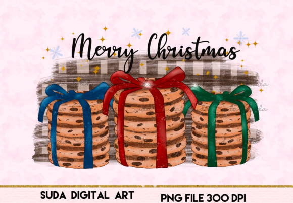 Print on Demand: Christmas Chip Cookies Sublimation Graphic Illustrations By Suda Digital Art
