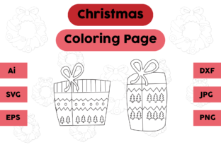 Christmas Coloring Pages Gift Sets Graphic Coloring Pages & Books Kids By isalsemarang