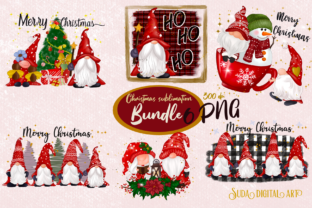 Print on Demand: Christmas Cute Sublimation Bundle Graphic Crafts By Suda Digital Art
