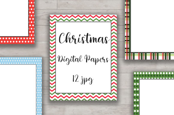 Christmas Digital Papers Graphic Backgrounds By PinkPearly