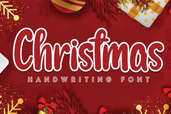 Print on Demand: Christmas Script & Handwritten Font By flowerletter