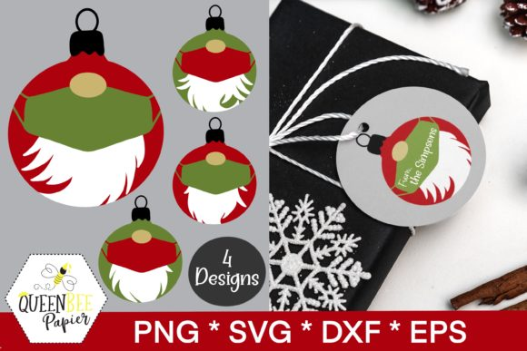 Print on Demand: Christmas Gnomes Ornaments Graphic Crafts By Queen Bee Papier