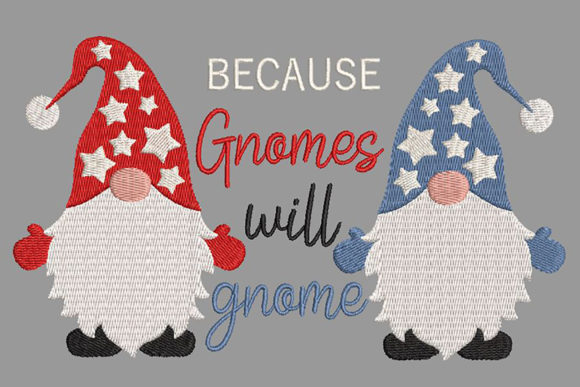 Christmas Gnomes and Funny Quote Embroidery