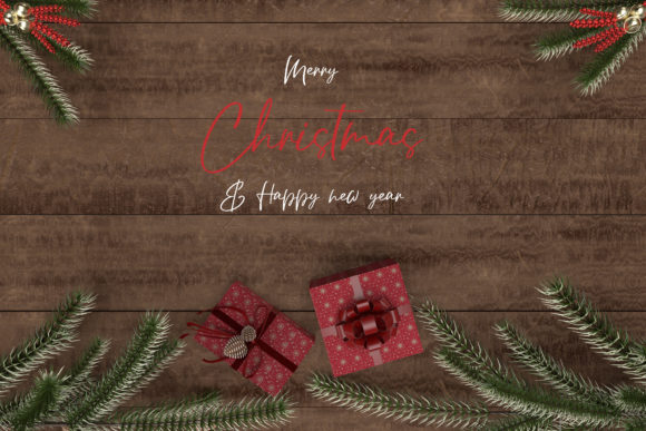 Christmas Mockup, Christmas Styled Graphic Product Mockups By Avadesing
