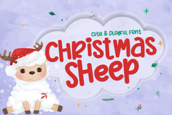 Print on Demand: Christmas Sheep Script & Handwritten Font By Stefani Letter