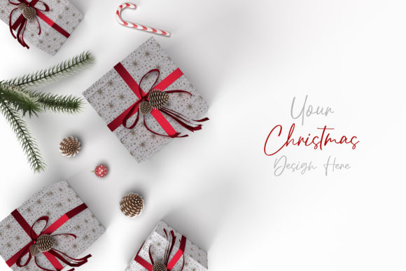 Christmas Styled, Designers Stationery Graphic Product Mockups By Avadesing