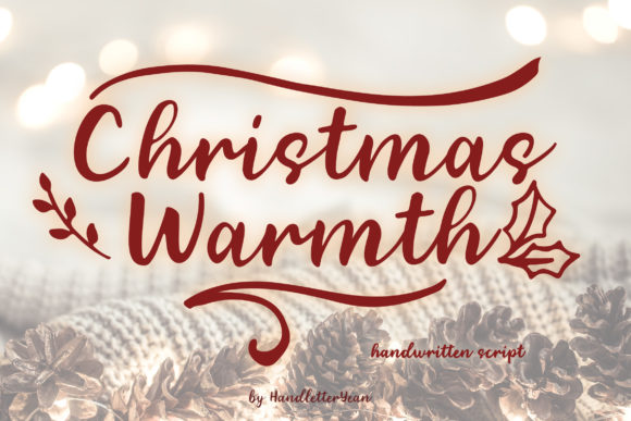 Print on Demand: Christmas Warmth Script & Handwritten Font By yean.aguste