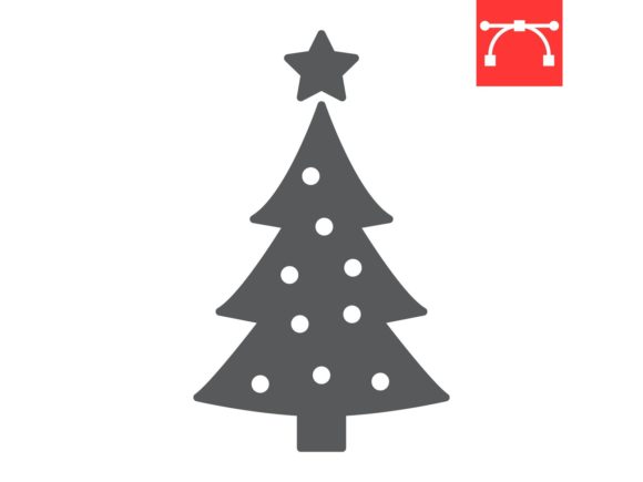Christmas Tree Glyph Icon Graphic Icons By Fox Design