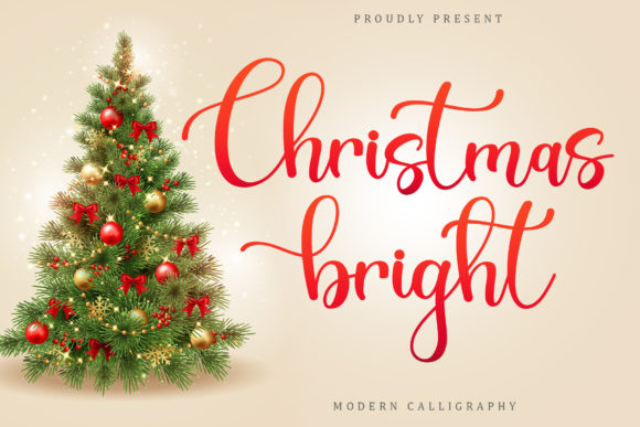 Print on Demand: Christsmas Bright Script & Handwritten Font By Sakha Design