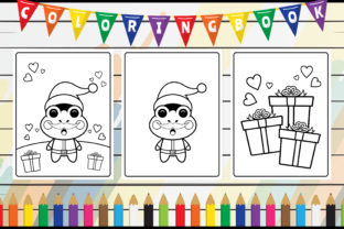 Coloring Book for Kids - Cute Frog Santa Graphic Coloring Pages & Books Kids By radigrafis