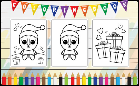 Coloring Book for Kids - Cute Penguin Graphic Coloring Pages & Books Kids By radigrafis