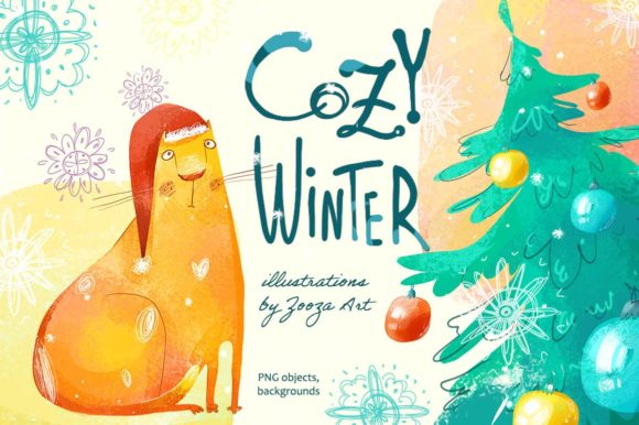 Print on Demand: Cozy Winter Illustrations Graphic Illustrations By Zooza Art
