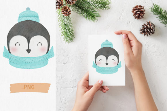 Print on Demand: Cute Winter Penguin Graphic Illustrations By iJMockupStudio