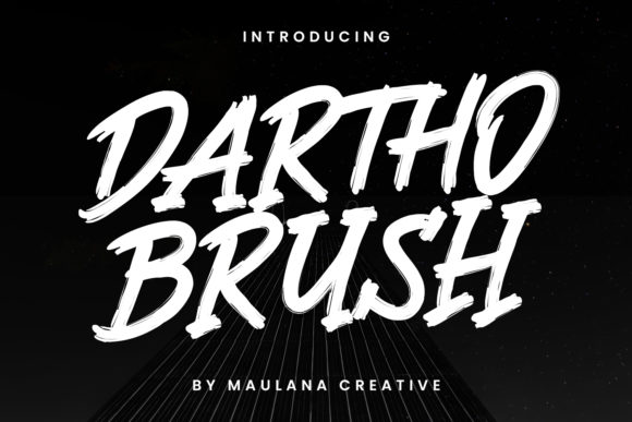 Print on Demand: Dartho Brush Display Font By Maulana Creative