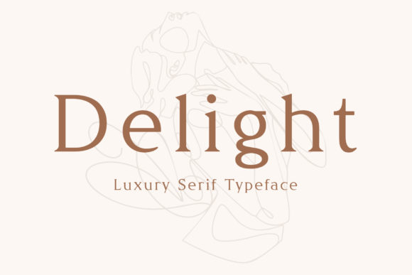 Print on Demand: Delight Serif Font By inspirationfeed
