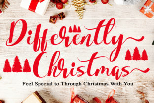 Print on Demand: Differently Christmas Script & Handwritten Font By MengulirPena