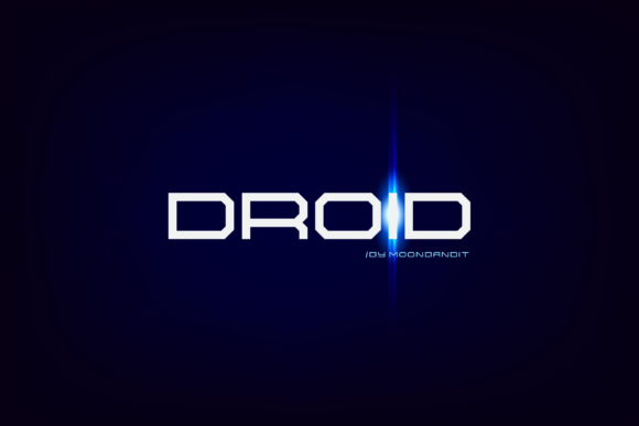 Print on Demand: Droid Display Font By moonbandit