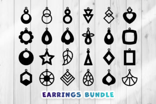 Print on Demand: Earrings SVG - Clipart Set Graphic Crafts By DTCreativeLab